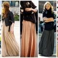 Что носить с юбкой в пол? юбки в пол в цветах