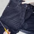 Как сшить юбку из джинсов?