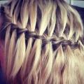 Коса-водопад для длинных волос