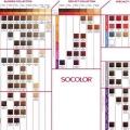 Палитра красок для волос матрикс