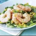 Салат с креветками и кальмаром