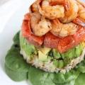 Салат с руколой и креветками - шикарное блюдо
