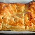 Слойки с ветчиной и сыром. рецепт приготовления