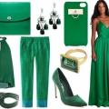 Зеленый цвет с каким цветом сочетается в одежде?