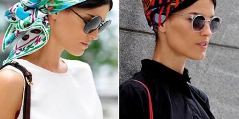 Как завязать шарф на голове?